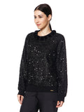 This jumper will add the needed glitz to your look and will also keep you warm. Don't miss out on the pom pom the neckline.