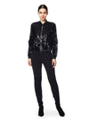 Black sequin bodice bomber jacket