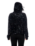 Sequin Jumper with Feather on Hoodie