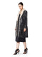 Trench coat with Fur collar Lapel