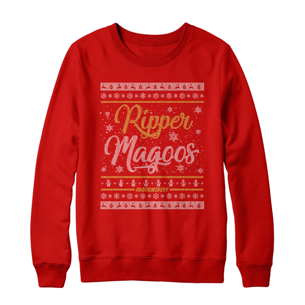 White Christmas Holiday Sweater (Red)