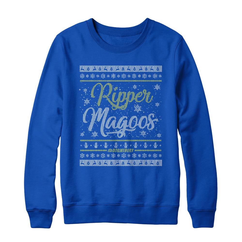 White Christmas Holiday Sweater (Blue)