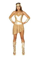 4848 - Roma Costume 3pc Golden Goddess Wonder Woman Greek Goddess Marvel DC Comics