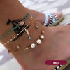 Mood Boho Sea Themed Layered Anklet