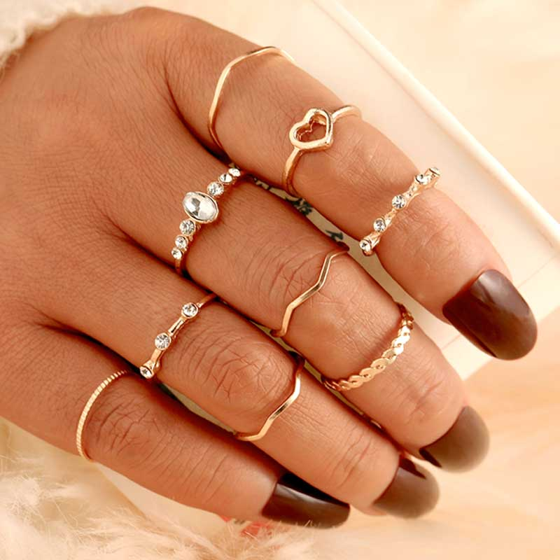 Mood Boho Vintage Rings Set