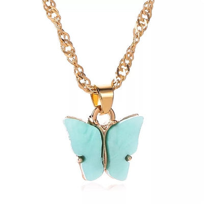 Mood Boho Butterfly Pendant Necklace 2pcs/set