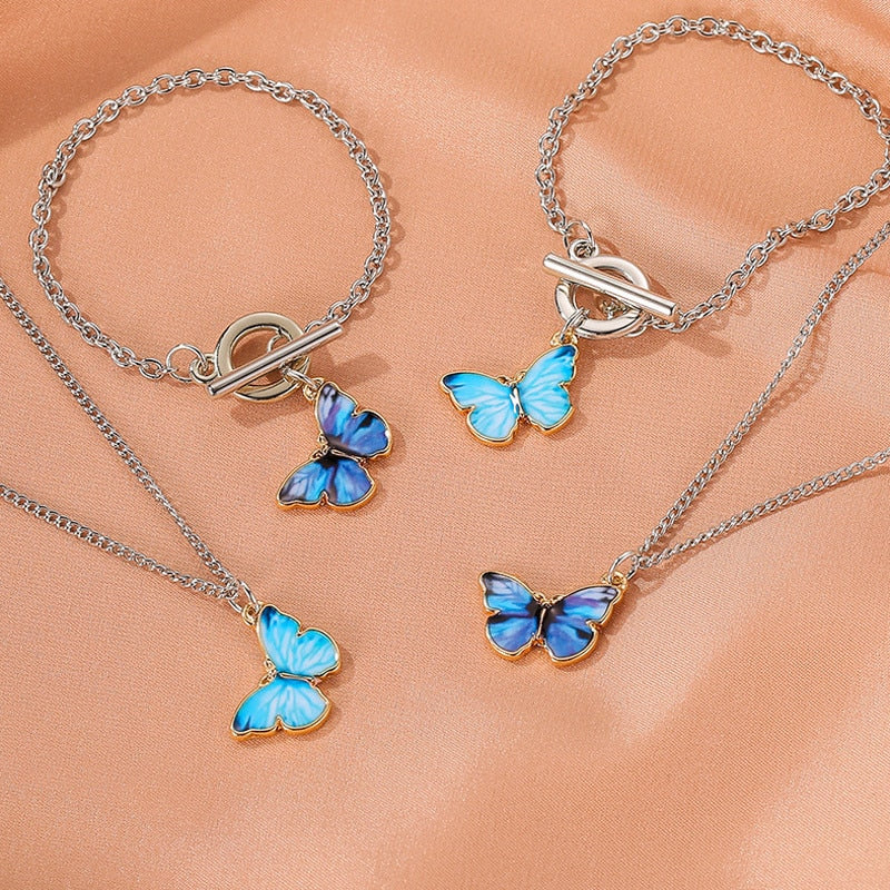 Mood Boho Butterfly Pendant w/ Toggle Clasp