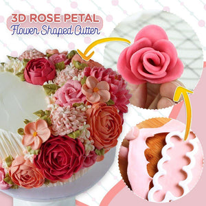 3D Rose Petal Flower Shaped Cutter