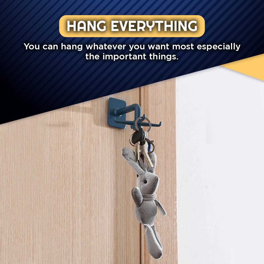 360 Degree Rotatable Four-claw Storage Hook