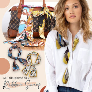 Multipurpose Silk Ribbon Scarf