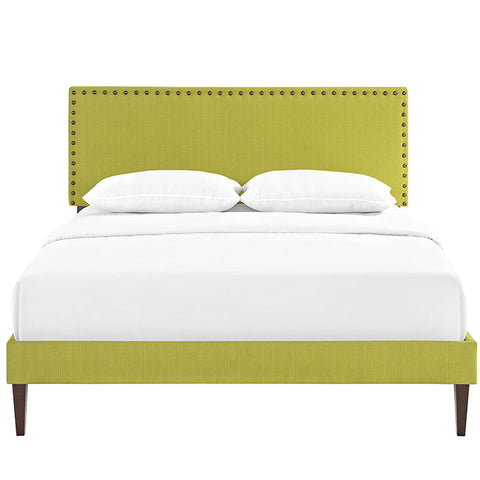 PHOEBE KING FABRIC PLATFORM BED