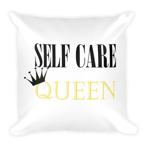 Self Care Queen Square Pillow
