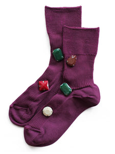 Color Bijoux Socks (purple)