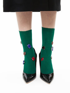Color Bijoux Socks (green)