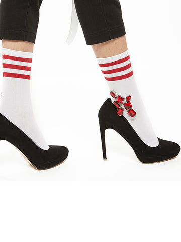 Bijoux Line Socks (red)