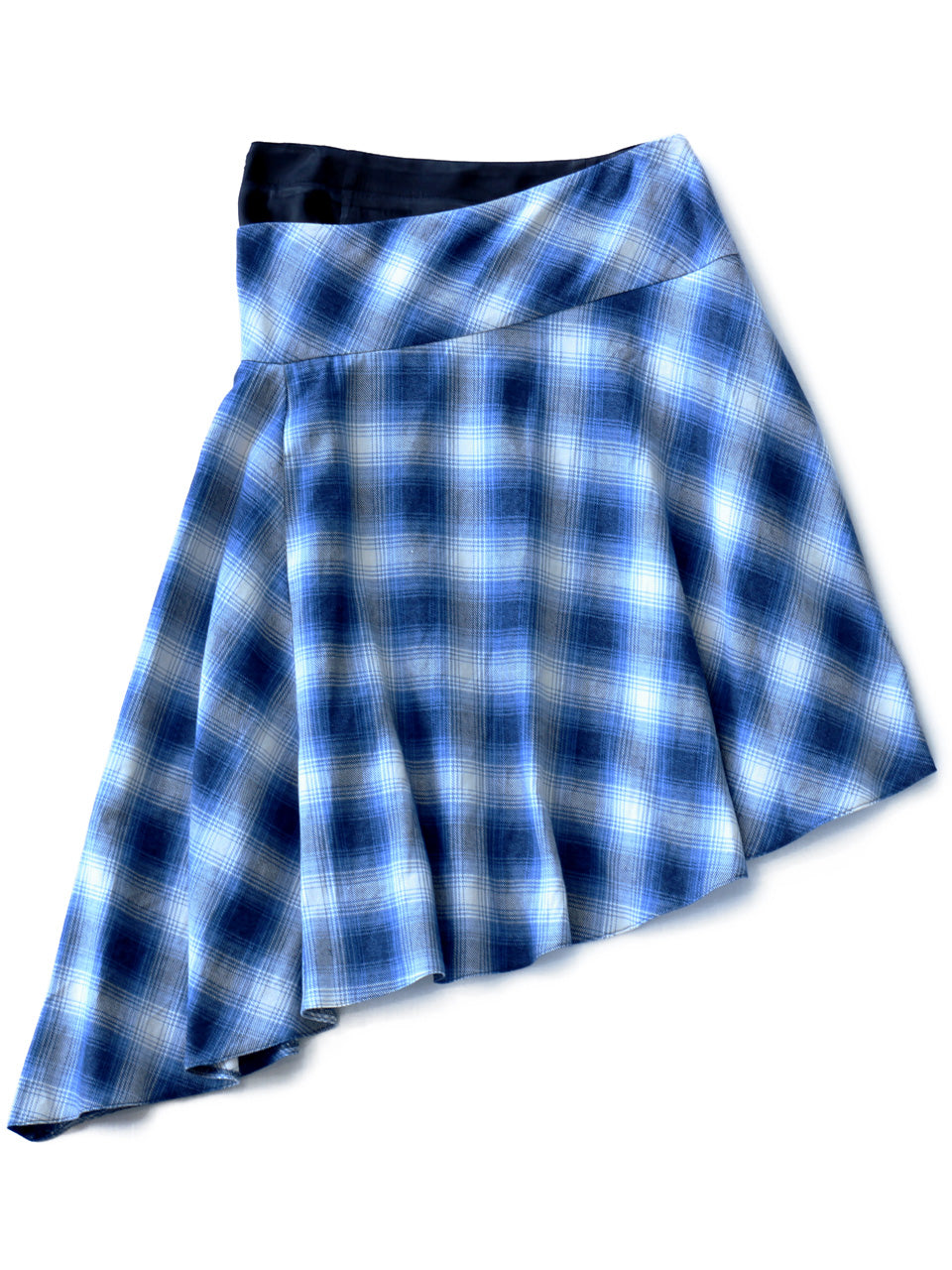 Check Shirt Flannel Skirt (blue check)