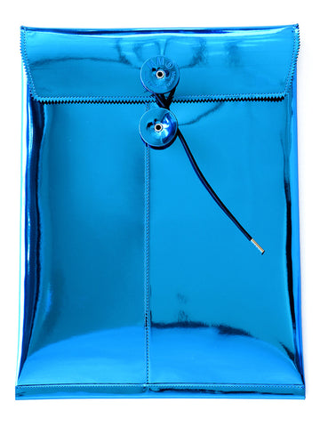 Laminate Clutch Bag (turquoise)