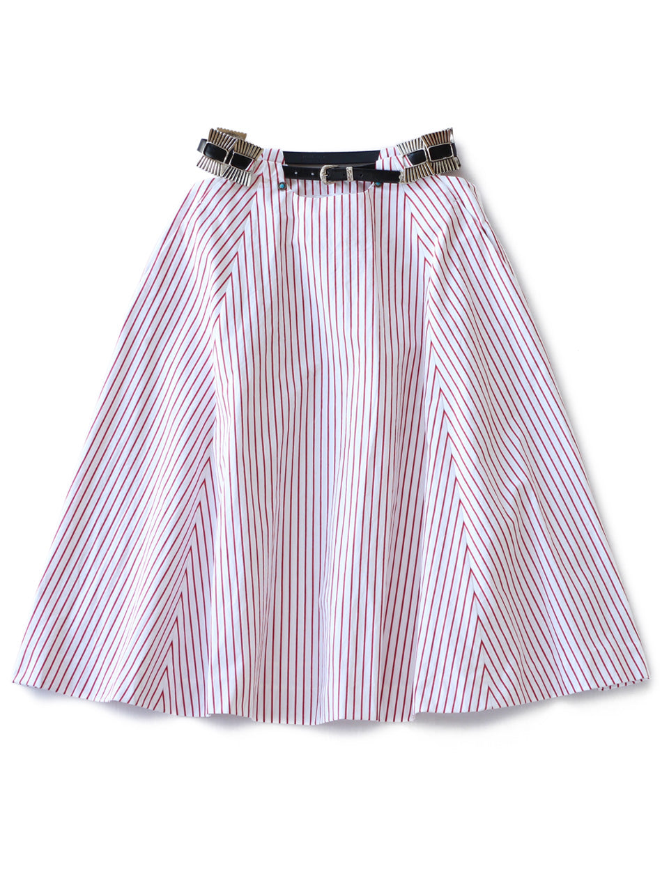 Cotton Stripe Skirt (red)