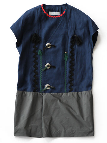 Cotton Boil Dress 1 (navy/grey)