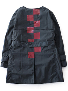 Plainly Colored Trench Coat (black/red)