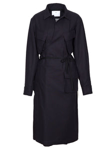 Cotton Gabardine Coat (black)
