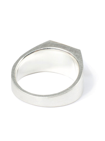 Stepcut Signet Ring (sv×10k)