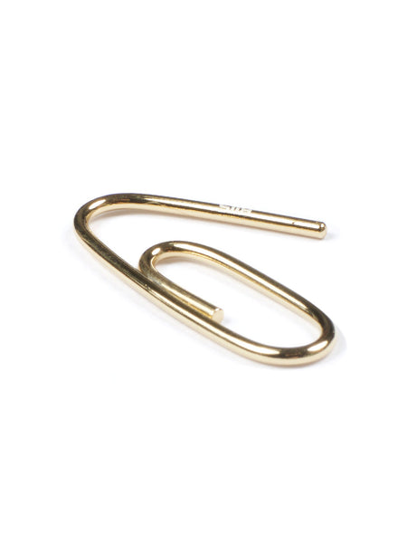 Paperclip Earring (yellow gold)