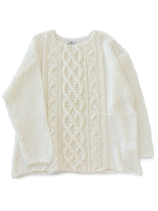 Fisherman Mohair Knit (white)