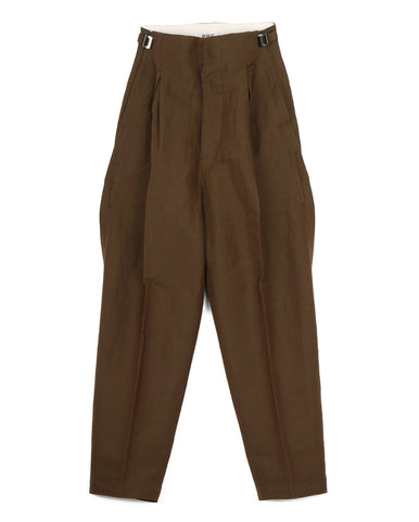 Linen Twill Pants (brown)