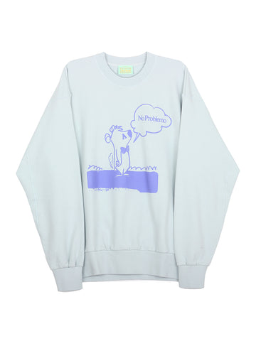 Stoner Bear Sweatshirt (pale blue)