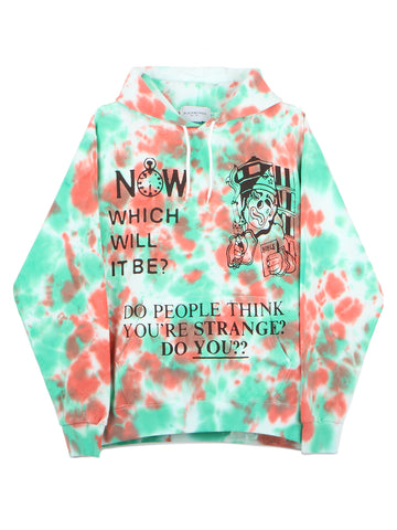 Jail Tiedye Hooded Sweatshirt (white)