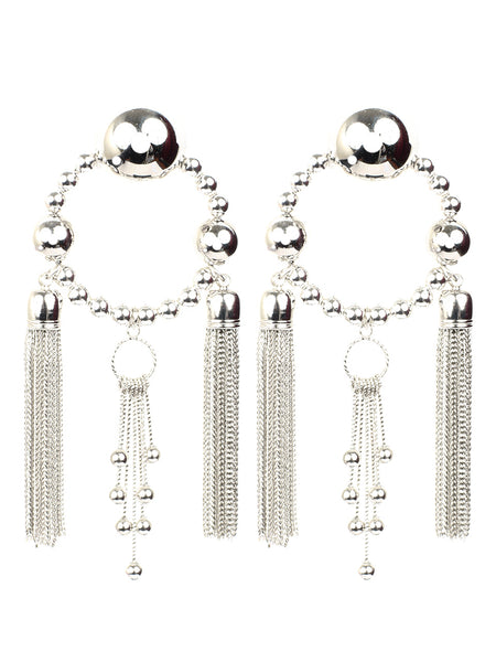 Metal Ball Earrings (silver)