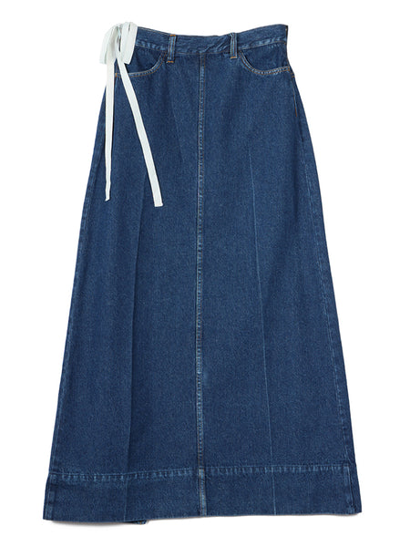 Denim Wrap Skirt (blue)