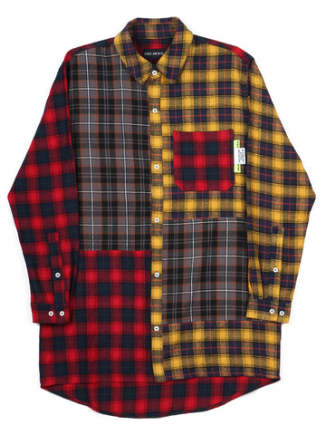 Arial Canopy Checked Panel Shirt (bright check multi)
