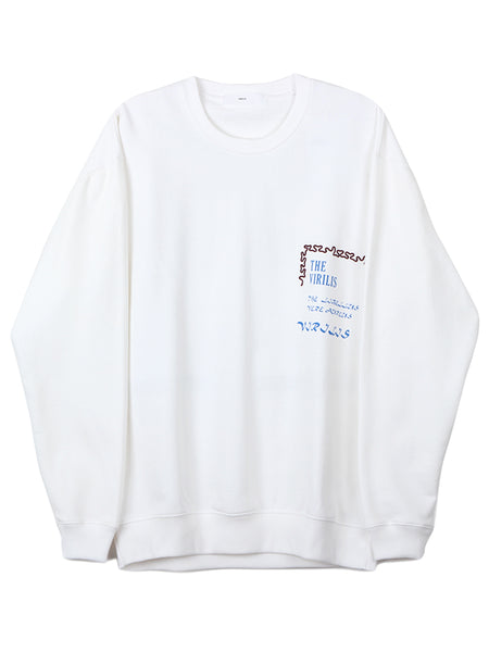 Print Logo Sweat (white)