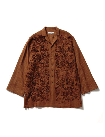 Tape Embroidery Kung-Fu Jacket (camel)