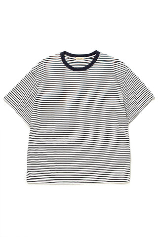 Generic Tee SS Cotton Border Jersey (white/navy)