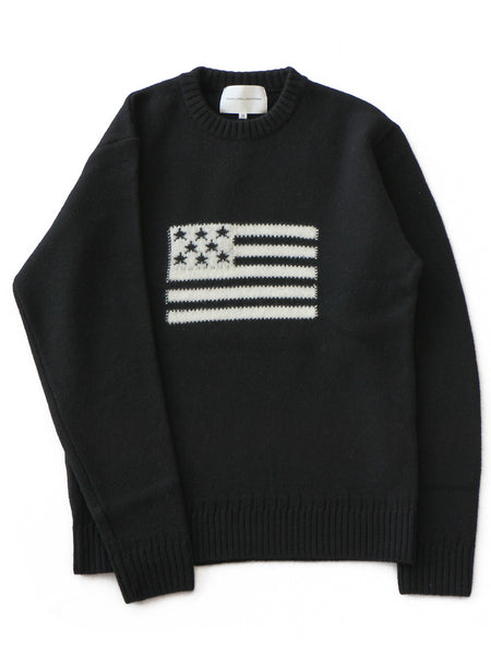 L/S Flag Knit (black)