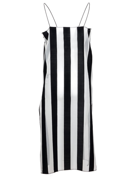Striped Organza Cami Dress (black)