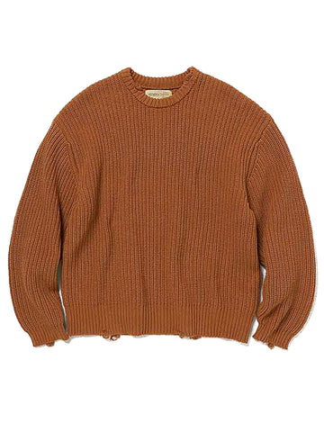 Mix Woven Phat Sweater (camel)