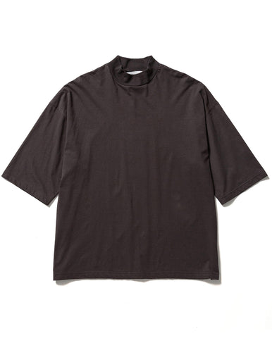 Mockneck H/S Tee(charcoal gray)