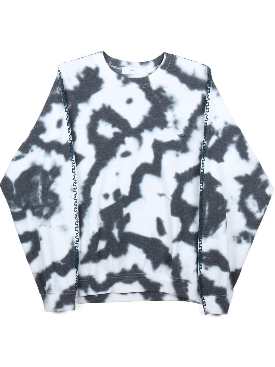 Tie Dye Sweat Pullover (white)