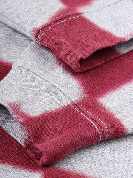 Plaid Pattern Sweat (dark red)