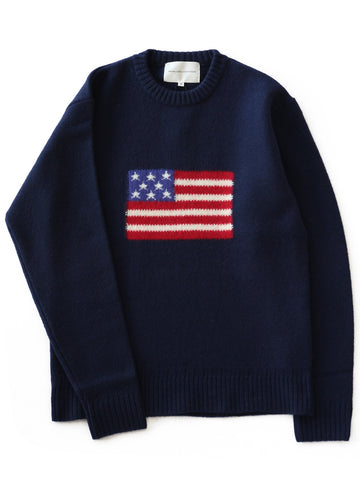L/S Flag Knit (navy)