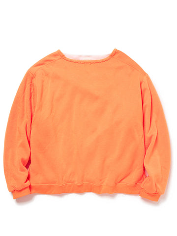 Double Face Neon Baggy Crew (orange)