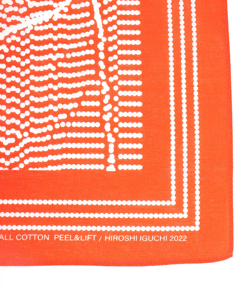 Metal Motif Earrings (red)