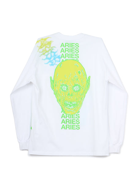 French Monster LS Tee (white)