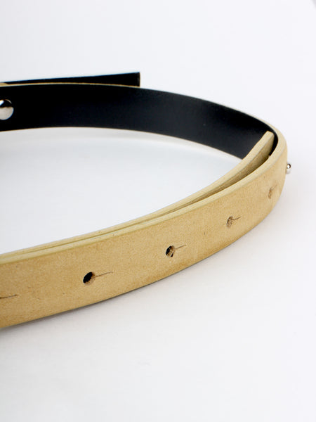 Double Buckle Belt (off white)