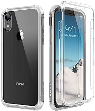 SURITCH Coque iPhone XR 360 Degré Transparente Antichoc Silicone Bumper  [Ultra Hybrid] Integrale Anti-Rayures Full Body Protection Etui Housse pour  iPhone XR