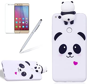 Coque téléphone Coque Pour Huawei P8 Lite 2017 Panda Silicone Soft TPU  Ultra Mince Protection